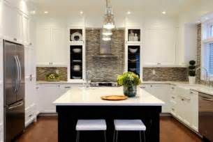 Kitchen Backsplash With White Cabinets Contemporary Mosaic Tiles Contemporary Kitchen Atmosphere Interior Design