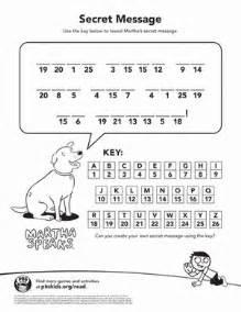 martha s super secret message worksheet education com