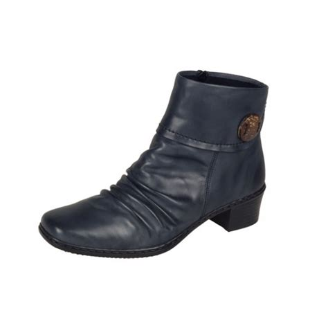 buy rieker navy blue leather ankle boot