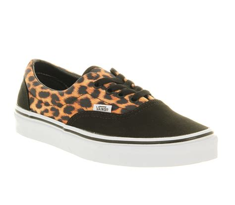 Vans Era Leopard Black vans era leopard black true white exclusive trainers shoes
