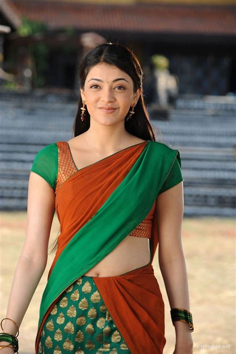 actress kajal in bad dress in saree breast kajal aggarwal beautiful in half saree 0m06 clothing