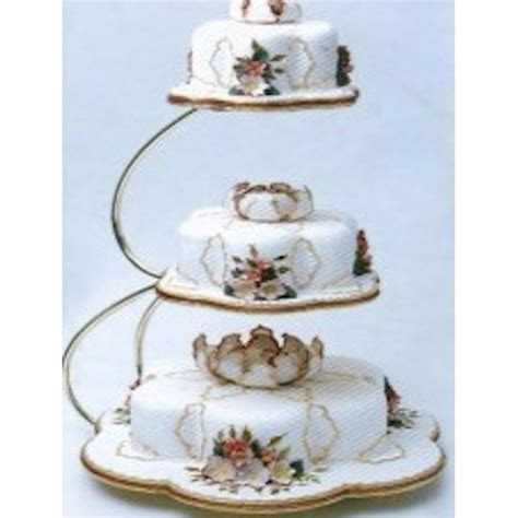 wedding cake three tier stand pme e shape 3 tier gold wedding cake stand pme from cake