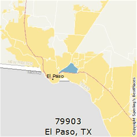 zip code map el paso tx best places to live in el paso zip 79903 texas