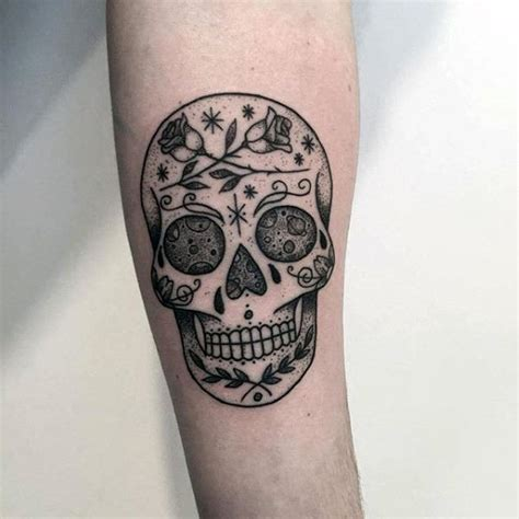 100 sugar skull tattoo designs for men cool calavera ink