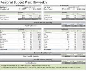 Two Week Budget Template by Biweekly Budget Biweekly Budget Excel Template
