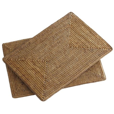 Place Mats by Rattan Rectangular Placemats Set Of 2 Wisteria