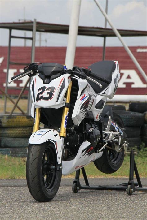 honda grom msxsf race bike built  hrc osaka motorcycle show honda pro kevin