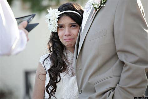preteen putita cancer stricken dad walks 11 year old down the aisle