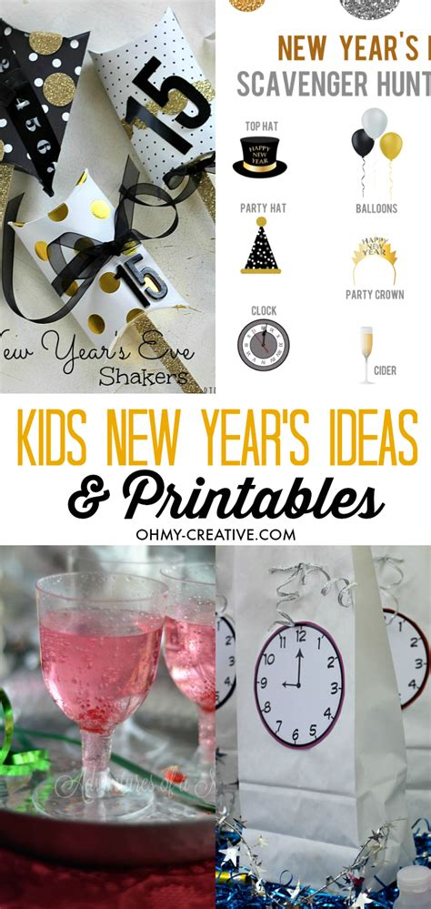 kids new year s eve ideas and printables oh my creative