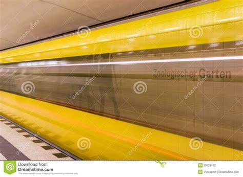 zoologischer garten berlin subway yellow speeding stock photography image 30728832