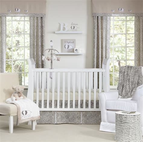 Grey And White Nursery Decor Boys Nursery Curtains Thenurseries