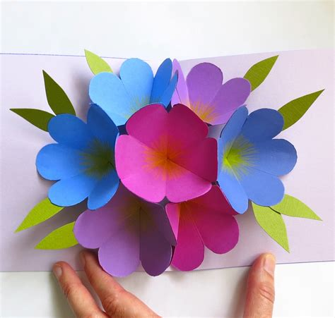 pop up flower card template mmmcrafts made it ms pop up flower card