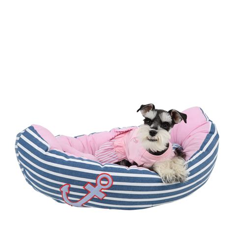 boat dog bed with anchor toy gondola dog bed by pinkaholic blue and pink at baxterboo