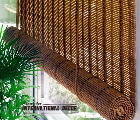 Bamboo Curtains Bamboo Curtains For Window Coverings In Home Interior