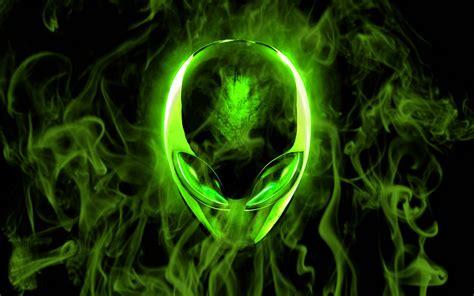 alienware wallpapers green black art