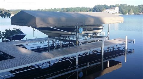 used 5000 lb boat lift for sale boat lifts at ease dock lift detroit lakes mn