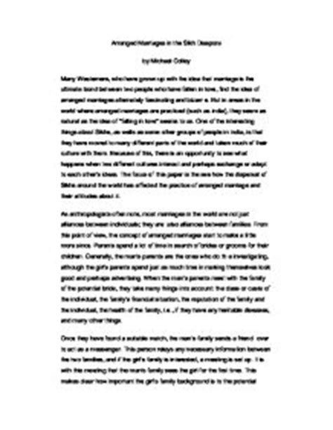Essay About Successful Marriage by Arranged Marriage Better Than Marriage Essay