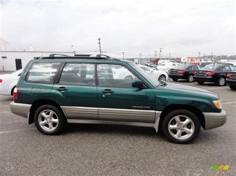 forest green subaru forester arcadia green metallic 2001 subaru forester 2 5 s exterior