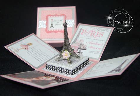eiffel tower themed wedding invitations creative themed invitation unique themed