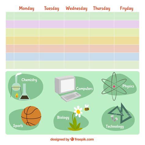 Calendario De La Escuela Calendario Colorido De La Escuela Descargar Vectores Gratis