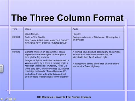 documentary script template step 3 write script child development documentary