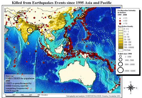 Earthquake Asia | earthquake map asia