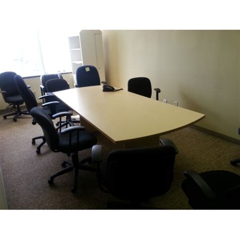 Board Meeting Table 8 Ft Board Room Meeting Table W Rounded Ends Allsold Ca Buy Sell Used Office