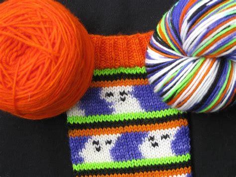 self pattern sock yarn hand painted halloween ghostie sock yarn kit with