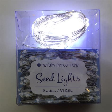 pure white fairy lights quot battery quot seed lights silver wire pure white 50 bulbs