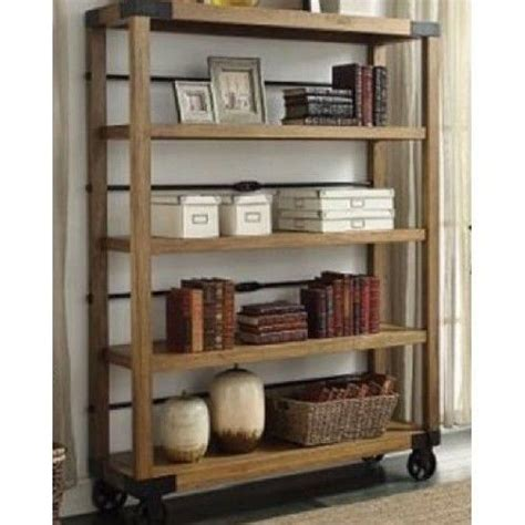 industrial bookcase vintage portable bookshelf display