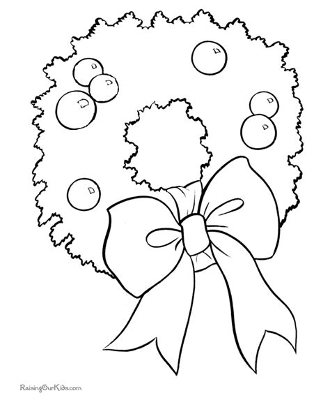 Christmas Wreaths Coloring Pages New Calendar Template Site Wreath Coloring Pages