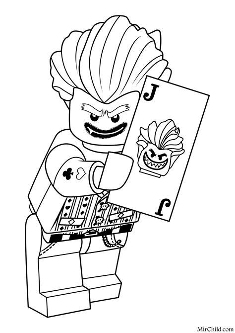 joker lego coloring page раскраска лего фильм бэтмен джокер mirchild