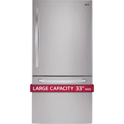 Freezer Lg 304 lg ldcs24223s 24 cu ft 33 quot bottom freezer refrigerator