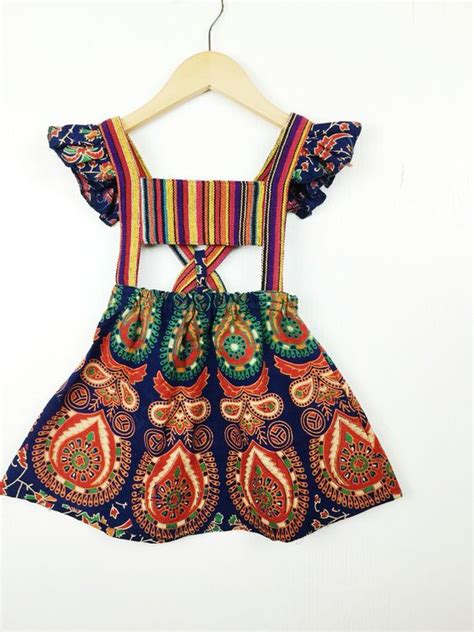 bohemian baby hippie and toddler dress on