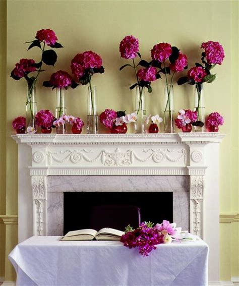 Flower To Decorate A Wedding by Wedding Wednesday Fireplace Mantles Flirty Fleurs The