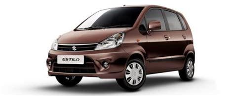 Maruti Suzuki Zen Price In India Maruti Zen Estilo Price In India Review Pics Specs