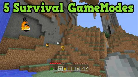 game mode for minecraft minecraft xbox 360 ps3 5 game modes for survival youtube