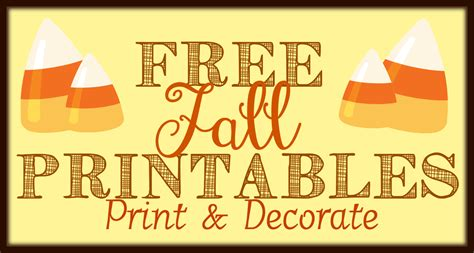 printable fall decorations free fall printables part 2 print decorate the