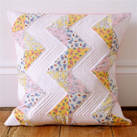 Patchwork Pillow - messyjesse a quilt by fincham chevron