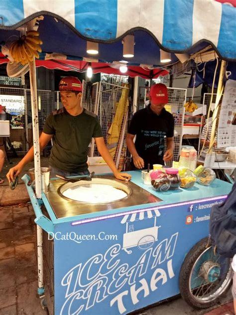 membuat es krim gulung kuliner jalan alor jalan alor kualalumpur street