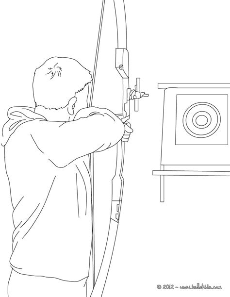 crossbow coloring page archery coloring pages hellokids com