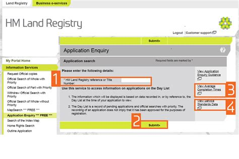Land Registry Address Search Hm Land Registry Portal Make An Application Enquiry Gov Uk