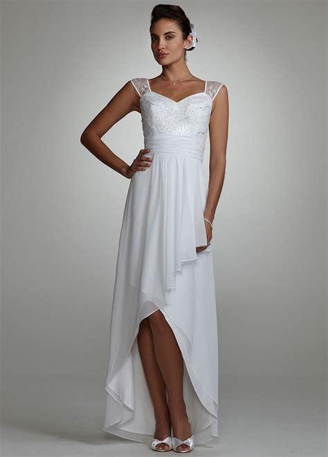 Nesa Shopp Hijah Dress david s bridal wedding dress cap sleeve beaded high low