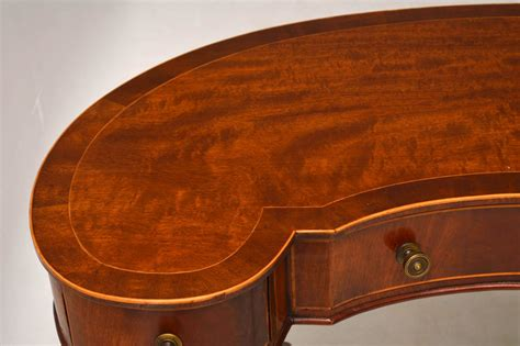 antique kidney shaped desk antique mahogany kidney shaped desk or dressing table