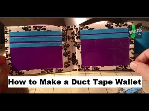 How Do You Make A Wallet Out Of Paper - how to make a duct wallet tutorial