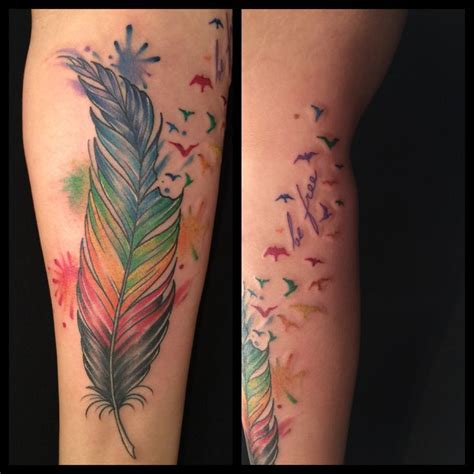 rainbow feather tattoo 116 best images about themed tattoos on