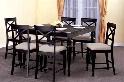 Details about square dining dinette kitchen counter height table black