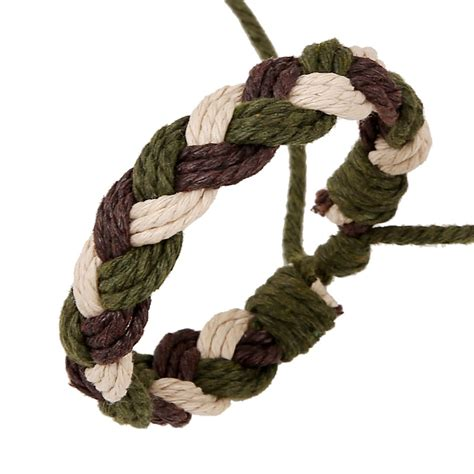 Hemp Braid Patterns - new wowen and hemp rope bracelet braid retro vintage