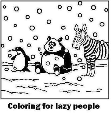 lazy person coloring page coloring for lazy people cartoons pinterest