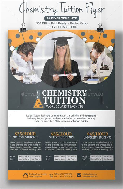 tutoring flyer template 22 free psd ai vector eps